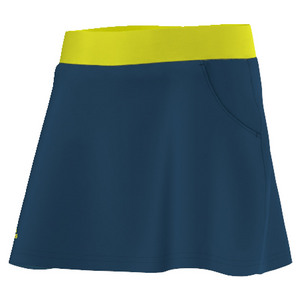 Girls` Club Tennis Skort Tech Steel and Shock Slime