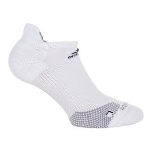 Traxion No Show Tennis Socks White and Light Onix