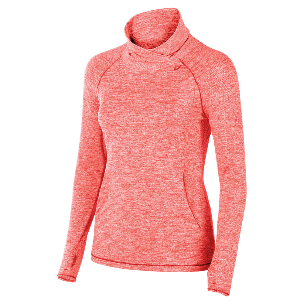 Women's Asx Lux Mock Neck Fiery Flame