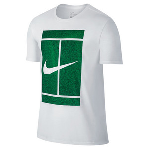 NIKE MENS COURT LOGO TENNIS TEE WHITE