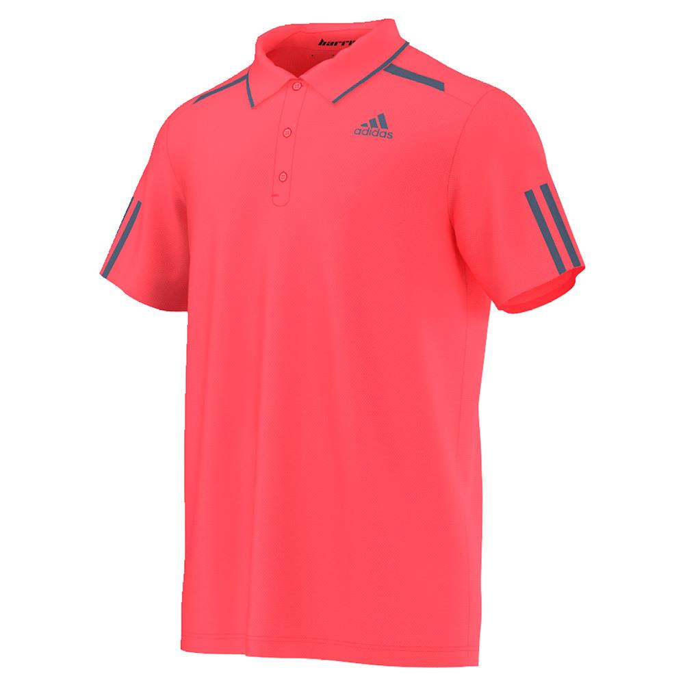 Men's Barricade Tennis Polo Flash Red