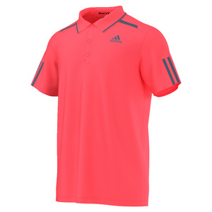 adidas MENS BARRICADE TENNIS POLO FLASH RED