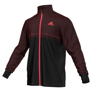 Men`s Barricade Tennis Jacket Black and Flash Red
