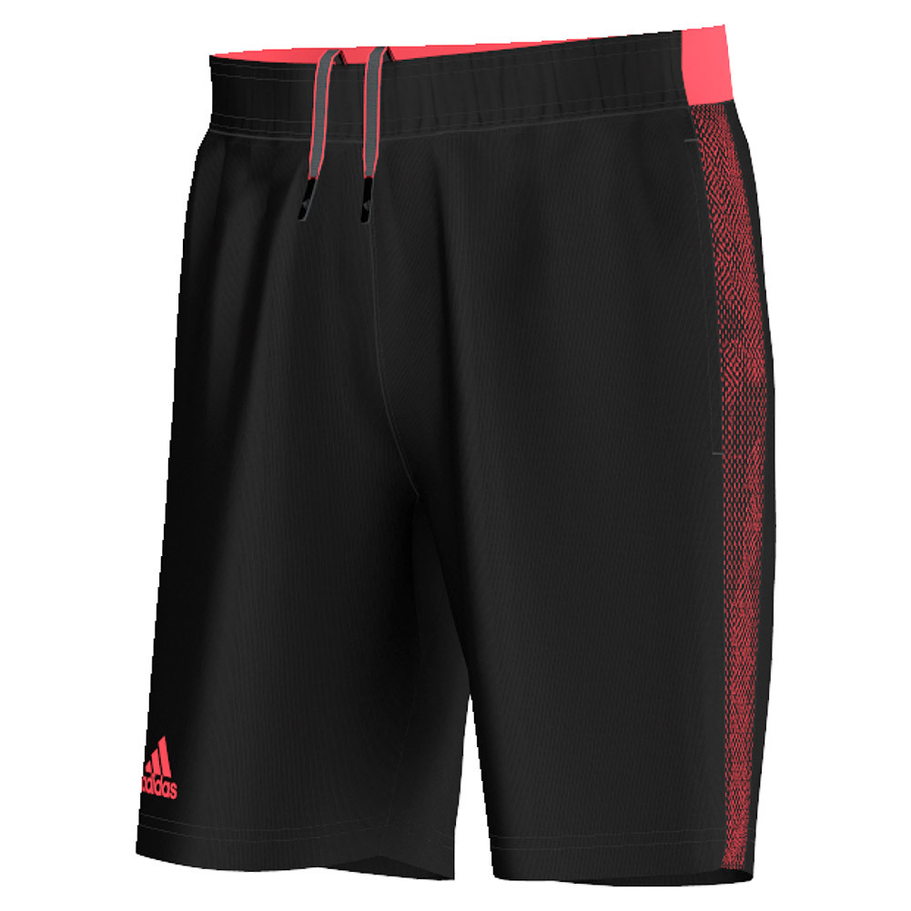 Men's Barricade Tennis Short Black And Flash Red