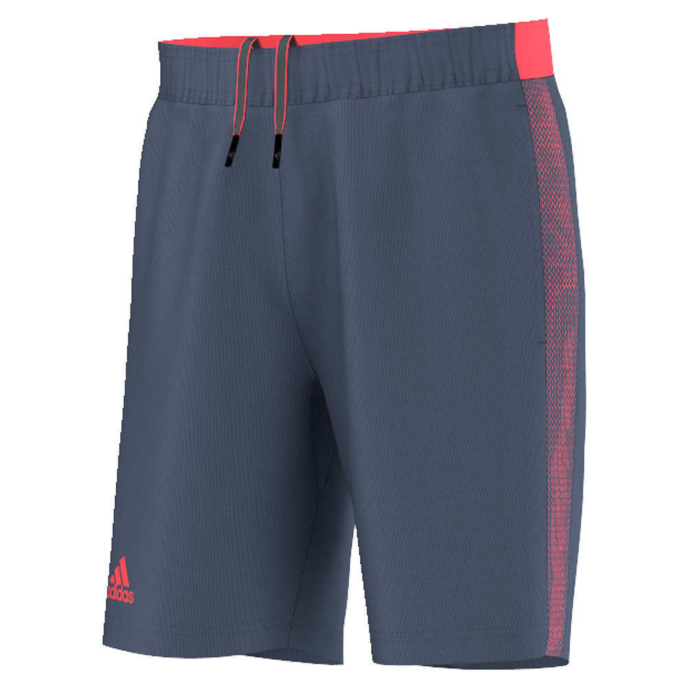 Men's Barricade Tennis Short Tech Ink And Flash Red