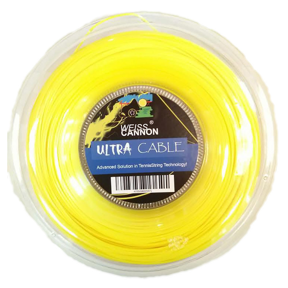 Ultra Cable 17l/1.23mm Tennis String Reel Neon Yellow