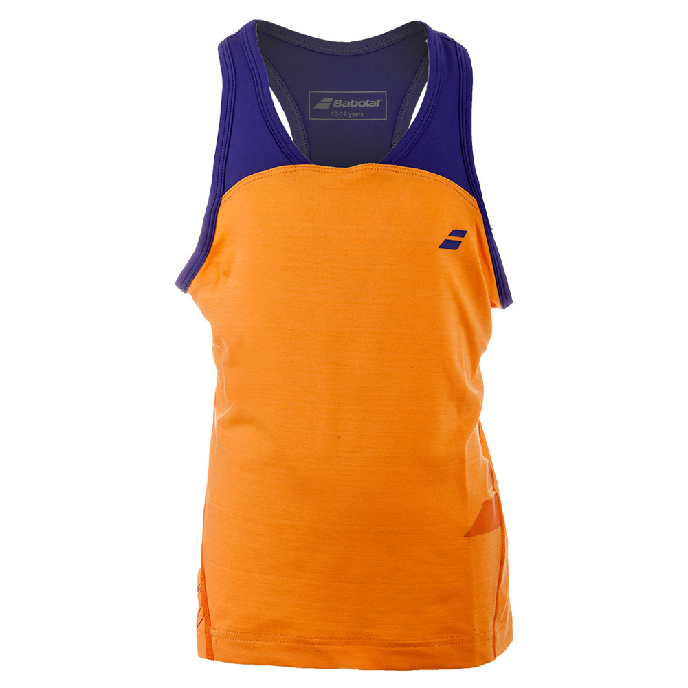 Girls ` Perf Racerback Tennis Tank Orange