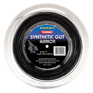 Synthetic Gut Armor Tennis String Reel Black