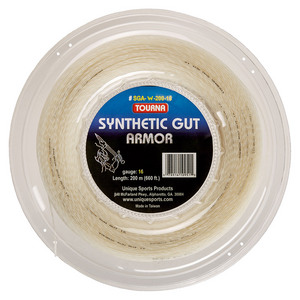 Synthetic Gut Armor Tennis String Reel White