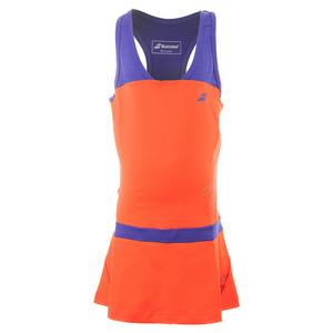BABOLAT GIRLS PERF RACERBACK TENNIS DRESS RED