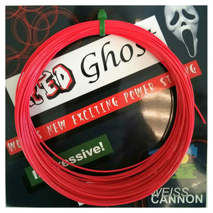 Red Ghost 17L/1.18MM Tennis String Neon Red