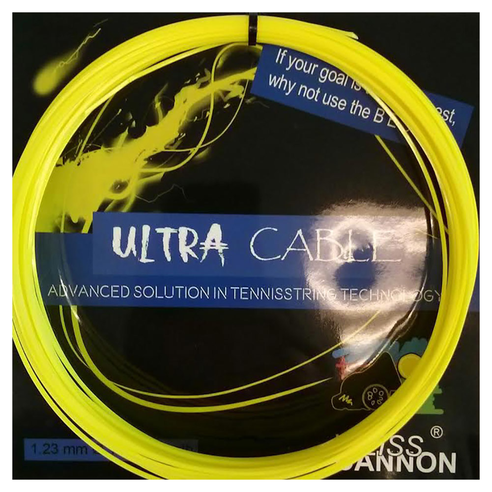 Ultra Cable 17l/1.23mm Tennis String Neon Yellow