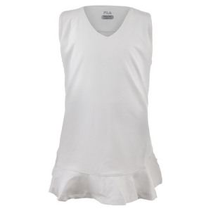 Girls` Peplum Tennis Top White