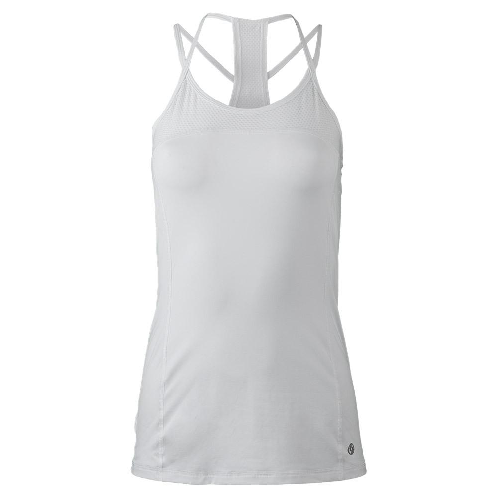 Women's Criss Cross Tennis Tank White