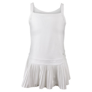 Girls` Match Tennis Dress White