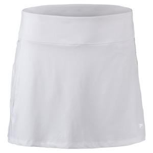 FILA WOMENS CORE A LINE TENNIS SKORT WHITE