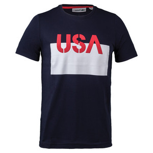 Men`s USA Tee Navy Blue and White
