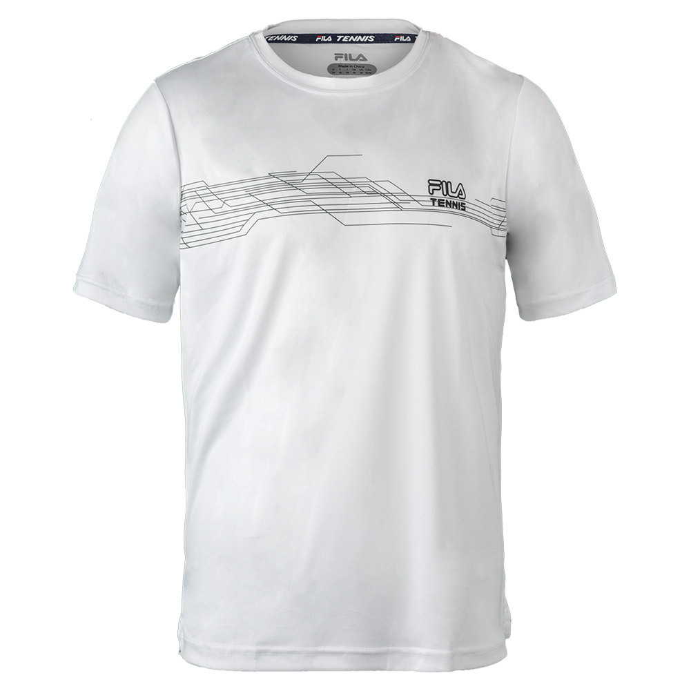 Men's Core Abstract Printed Tennis Crew White
