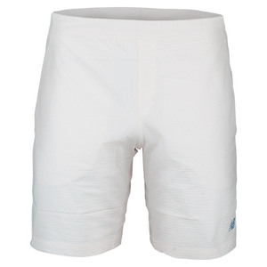 NEW BALANCE MENS TOURNAMENT 9 IN WVN TNS SHORT WHT