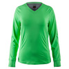 BOLLE Women`s Priscilla Long Sleeve Tennis Top Lime