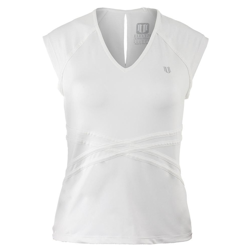 Women's Inspire Cap Sleeve Tennis Top White