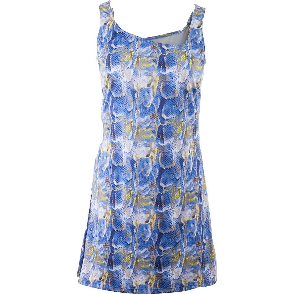 Women's Sideline Tennis Dress Blue Print