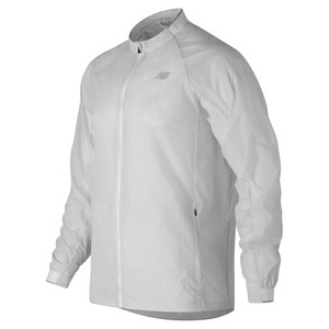 NEW BALANCE MENS FIRST TENNIS JACKET WHITE