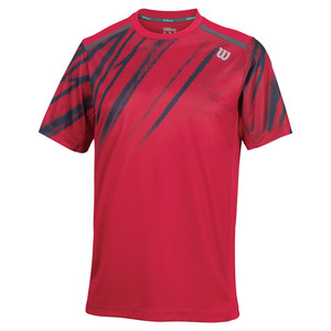 WILSON MENS PRINT CREW NECK TENNIS TOP