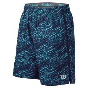 Men`s 8 Inch Print Tennis Short