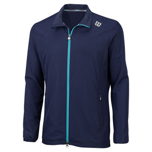 WILSON MENS RUSH WINDBREAKER TENNIS TOP NAVY