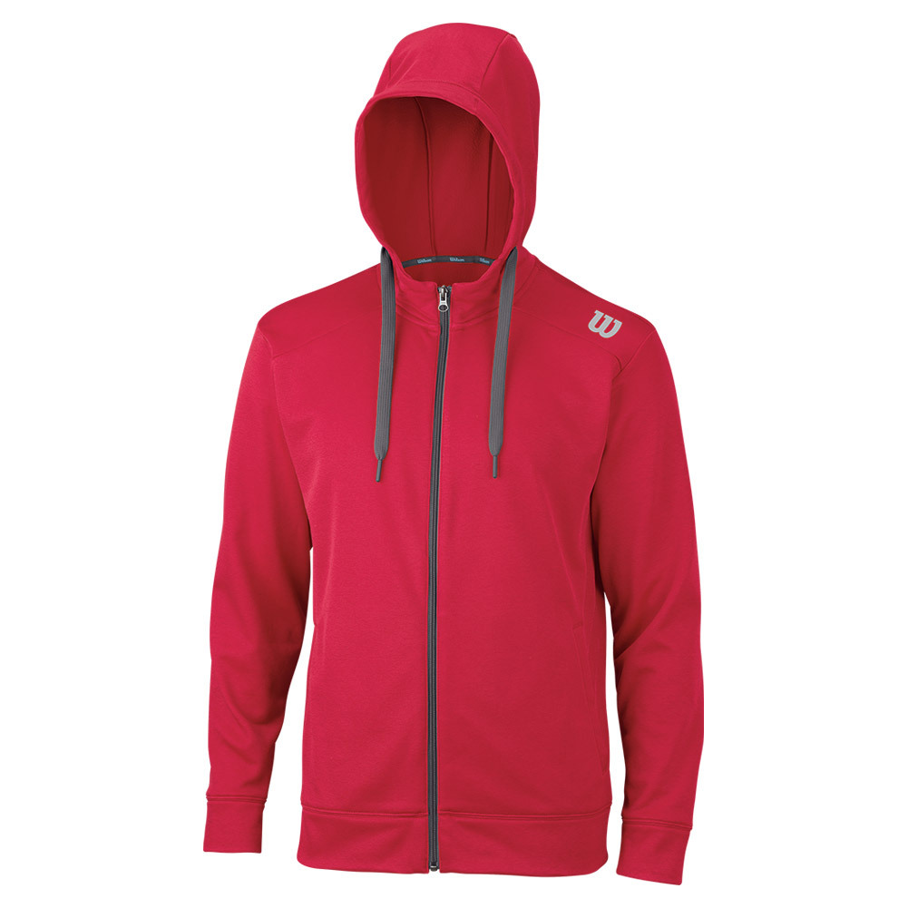 Men's Zip Tennis Hoodie Crimson