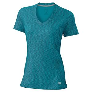 Women`s Striated Cap Sleeve Tennis Top
