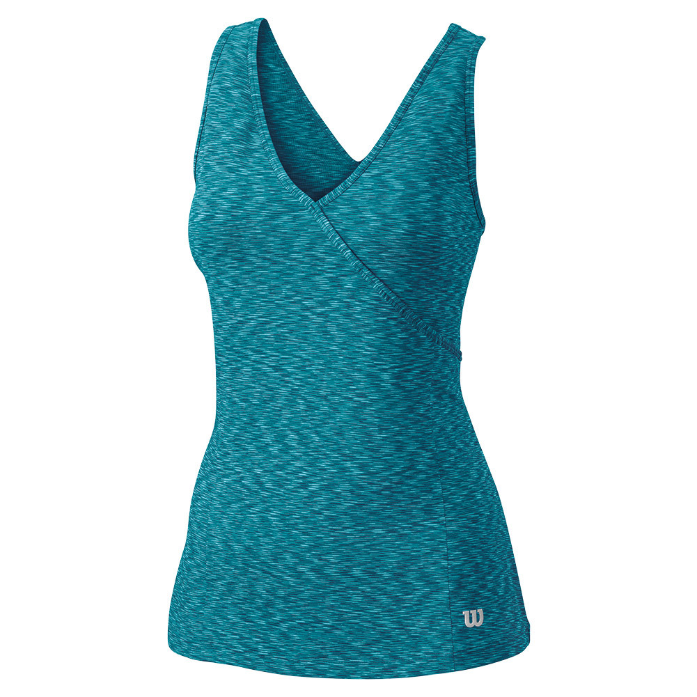 Women's Striated Wrap Tennis Tank Eastern Shoreline