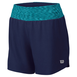 WILSON WOMENS SPORTY 3 INCH TENNIS SHORT NAVY
