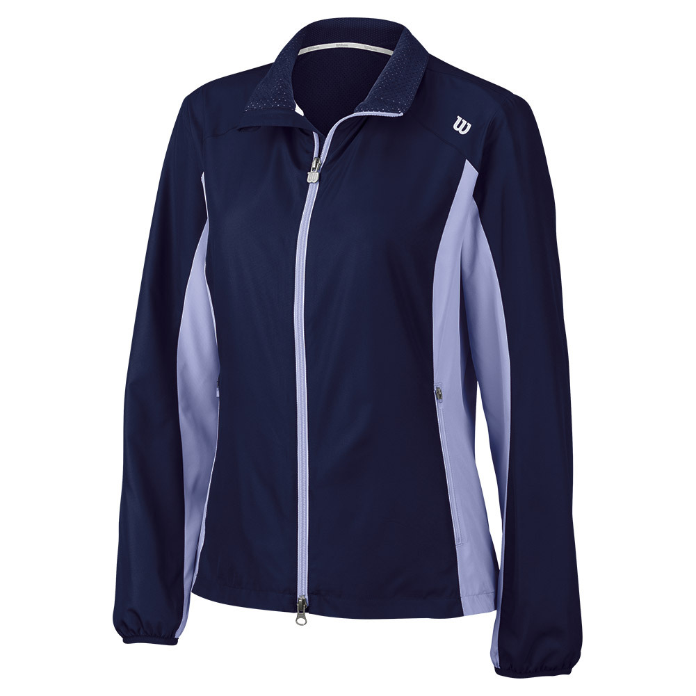 Women's Rush Tennis Windbreaker Navy And Sweet Lavender