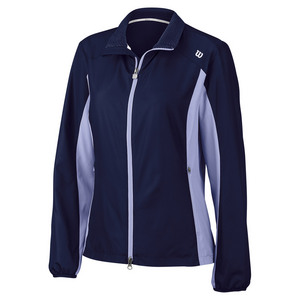 Women`s Rush Tennis Windbreaker Navy and Sweet Lavender