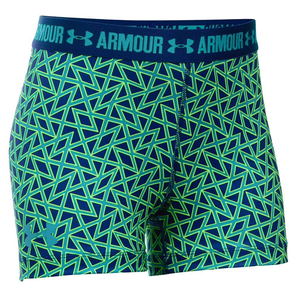 under armour shorts for girls. girls` heatgear printed shorty 403_caspian/cosmos under armour shorts for girls