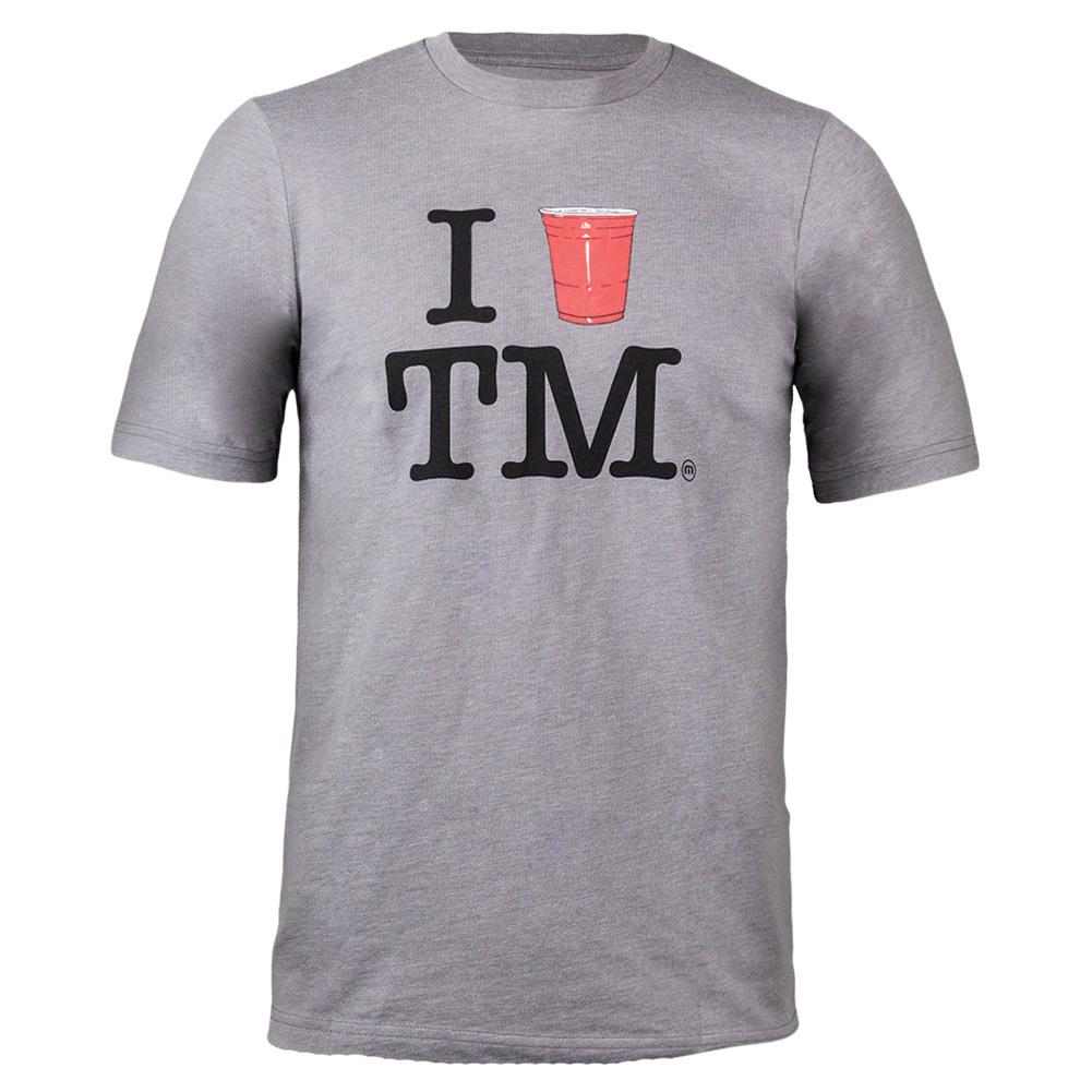 Men's Love Tm Tennis Tee Heather Gray