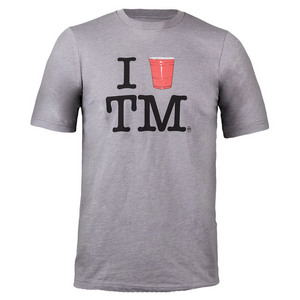 Men`s Love TM Tennis Tee Heather Gray