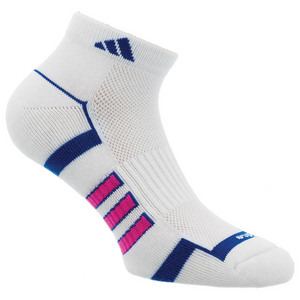 Women`s Climalite II Low Cut Tennis Socks White and Shock Blue Size 5-10