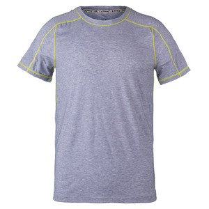 SOLFIRE MENS TECH TENNIS TEE GRAY HEATHER