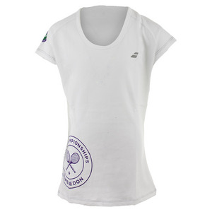 Girls` Wimbledon Flag Tennis Tee