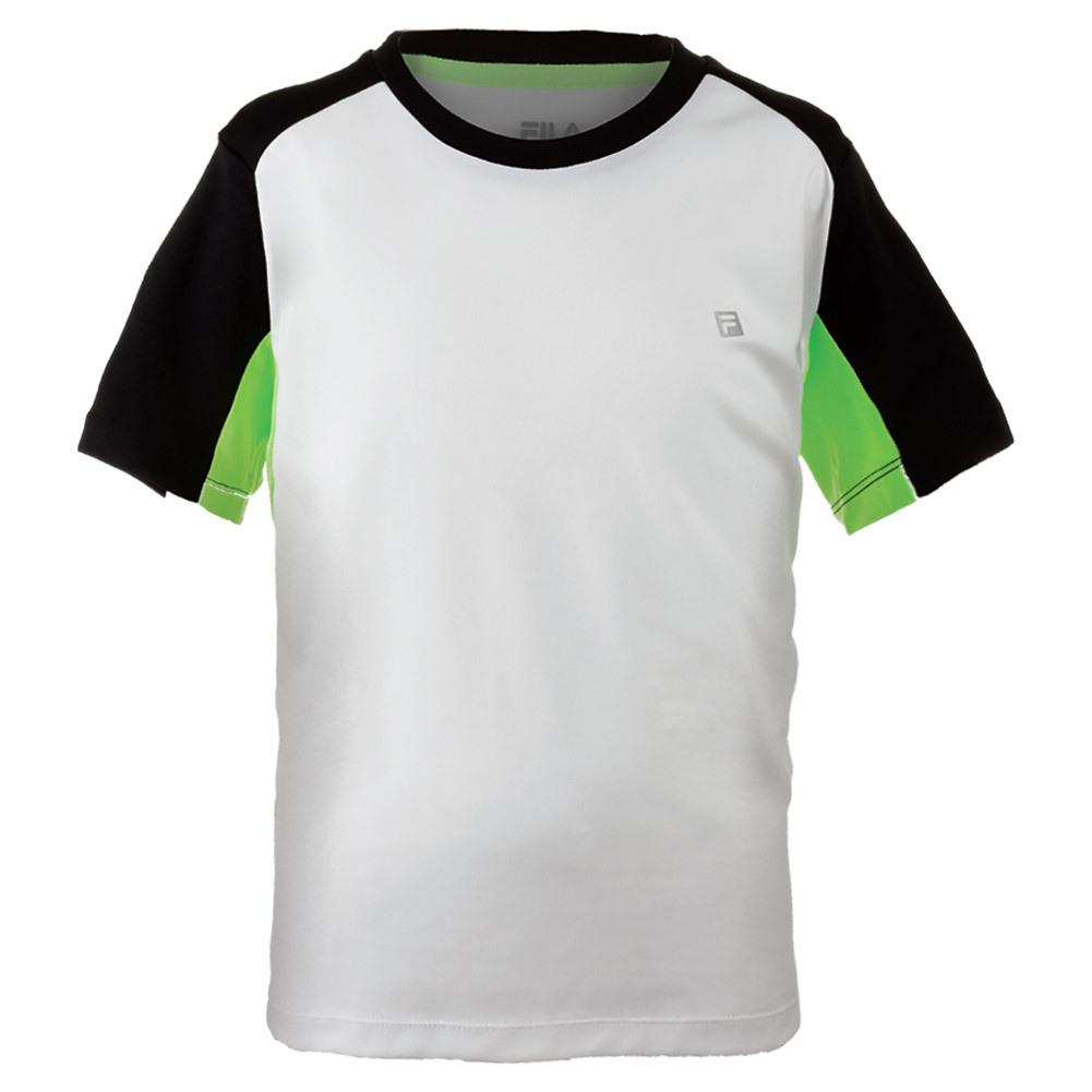 Boys ` Alpha Tennis Crew White And Black