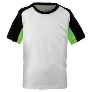 Boys` Alpha Tennis Crew White and Black