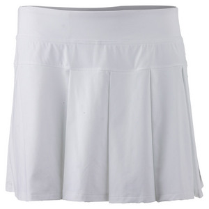 LIJA WOMENS MODERN PLEATED TNS SKORT WHITE