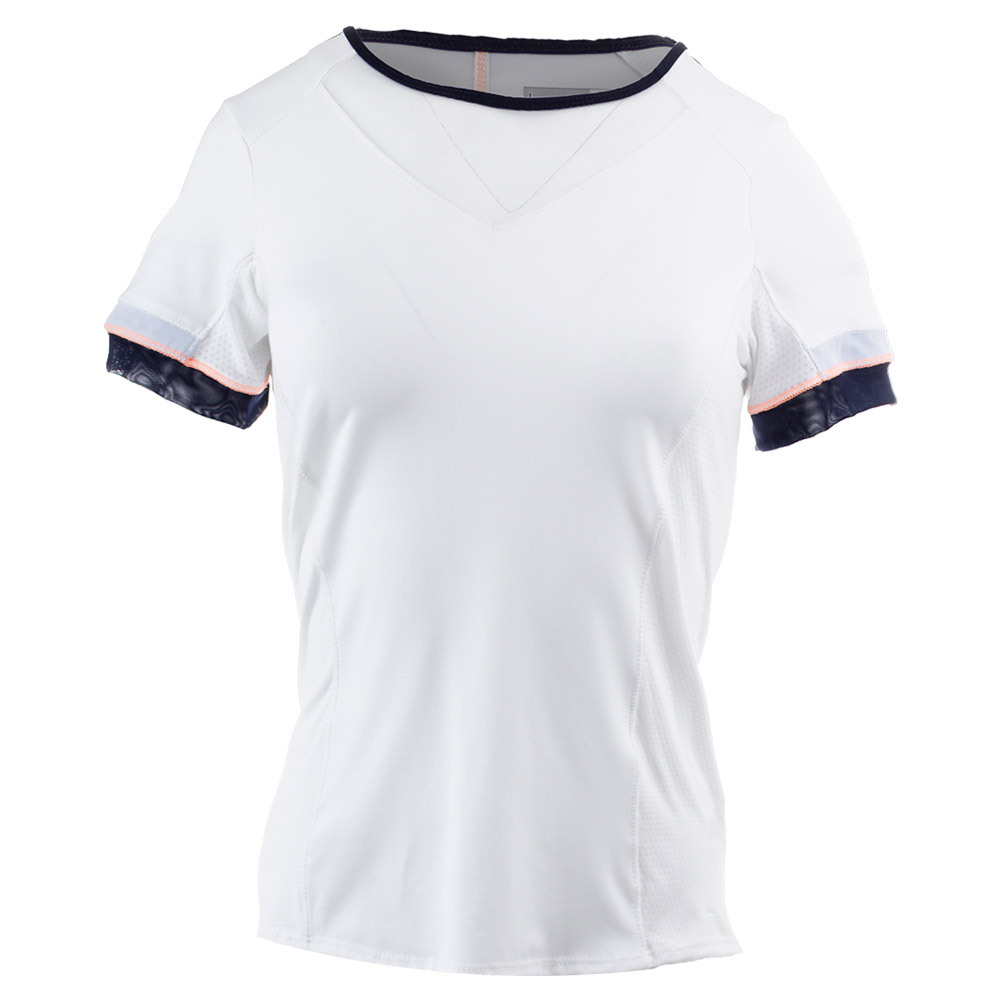 Women's Short Sleeve Tennis Crew White