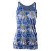 Women`s Sideline Tennis Top Blue Print by K-SWISS