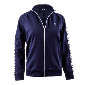 FRED PERRY WOMENS TRACK JACKET CARBON BLUE