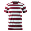 Men`s Striped Ringer Tennis Tee 303_SNOW_WHT/MAROON