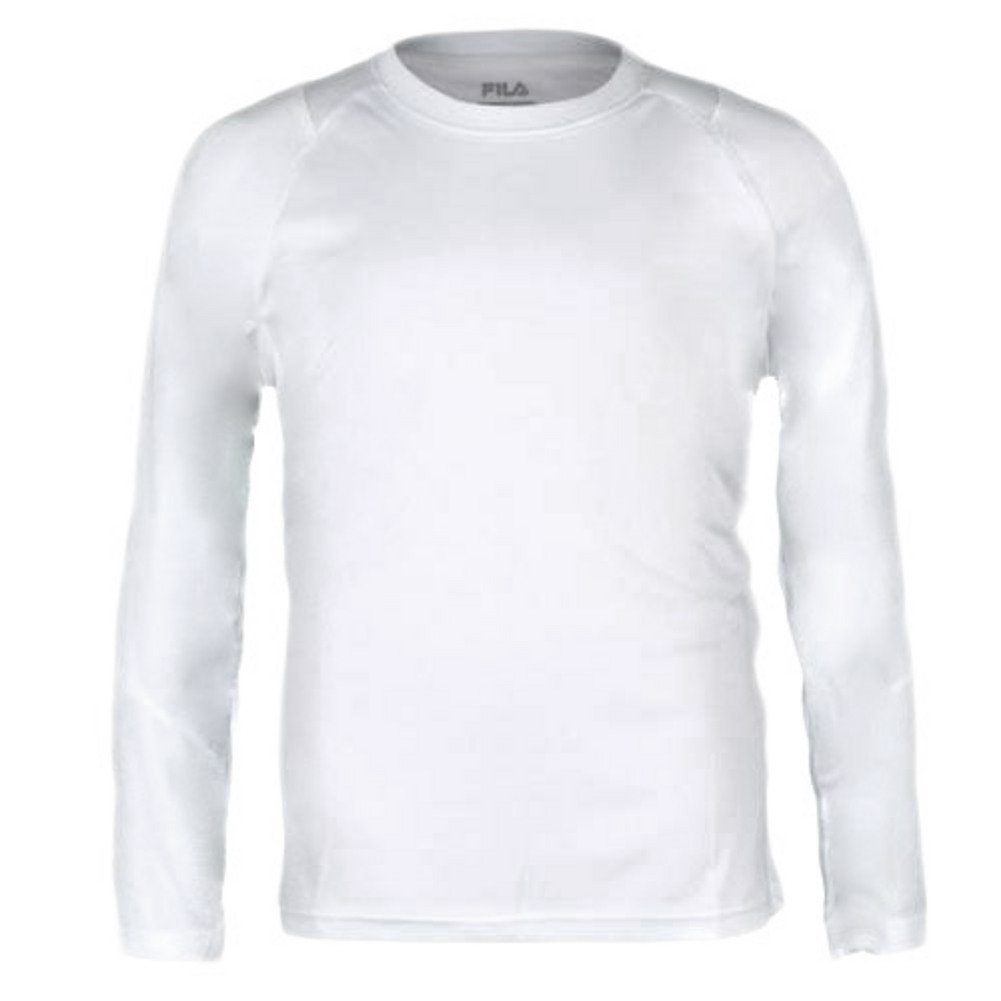 Boys ` Fundamental Long Sleeve Tennis Top White